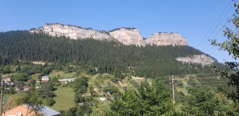 Gazing up at the 2 km wide cliff of Şahınkaya.