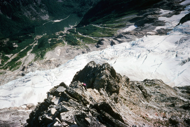 Mid way up the NE buttress 1992