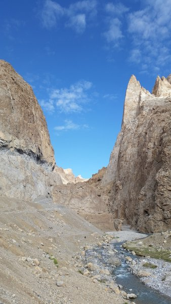 Chossy, but what a formation in Ladakh...