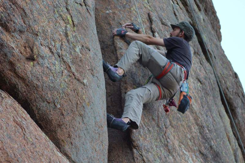 Climbing the really sweet leanback on Power Series. October 2020