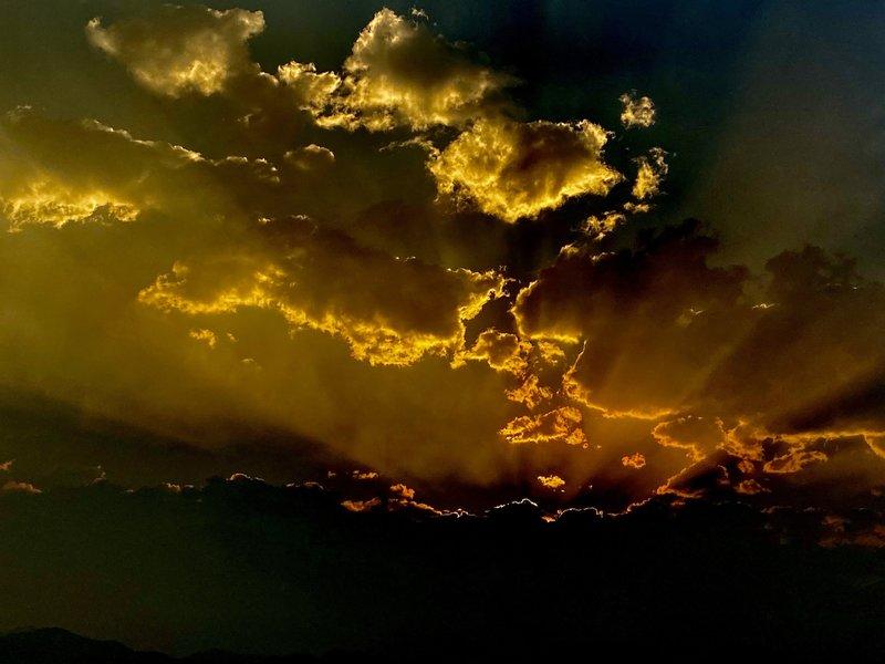 Stormy sunset!