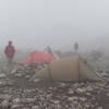 Thick fog at camp