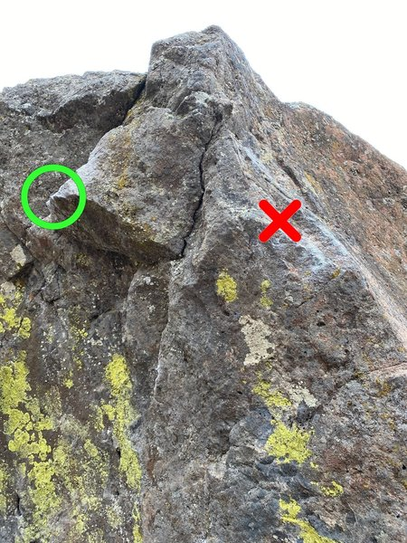 right arete hold is off for this problem, go straight to the jug on the left