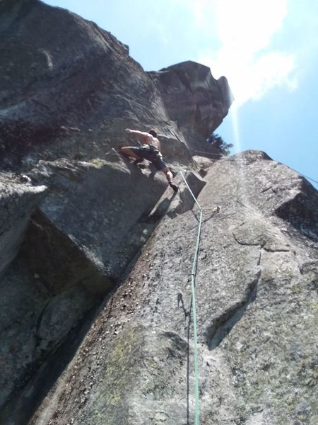 pitch 3 of bakers passage in the crux of it, on the first accent. creative climbing to say the least, on the first three bolts.