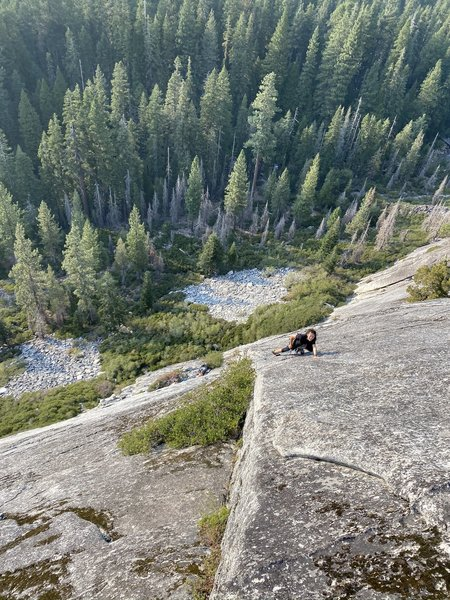 Elizabeth Gee on the final pitch of Ham and Cheese. Summer 2020
