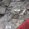 October 24, 2020 - loose rock near the P1 anchors of Yellow Dog Dingo.