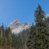 The south face as seen from the Denny Creek Trail.