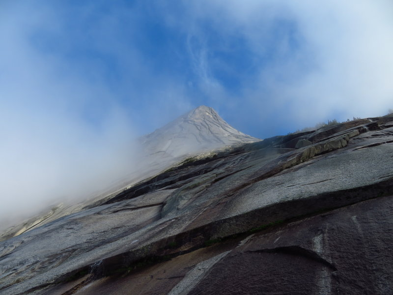 Misty summer morning on Yak