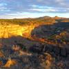 Sunset in Sullivan's Canyon.
