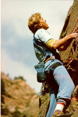 Tom Maino just below the crux on 1st pitch.