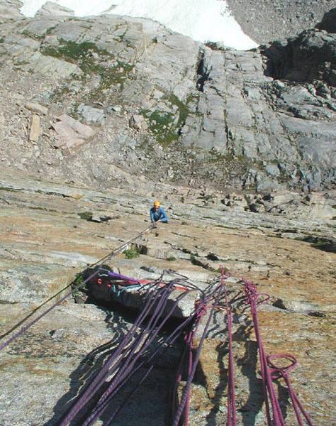Yellow Wall  Bob Rotert/photographer  Tom Kimbrell/climber