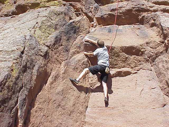 Me on the first little overhang.