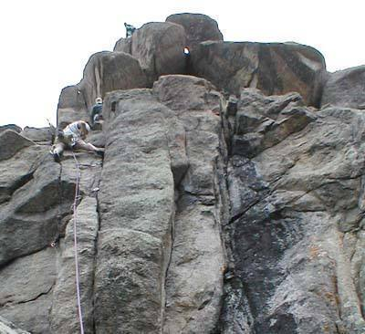 """The """"Yote"""" slides easily past the crux."""