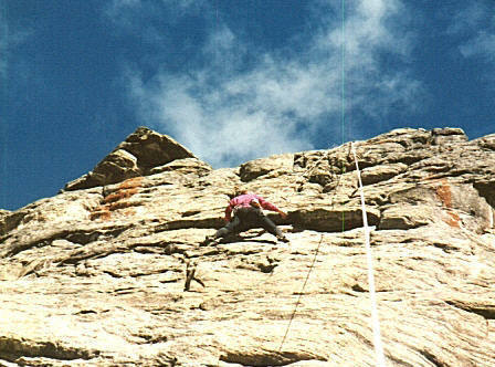 ABS at the roof crux.