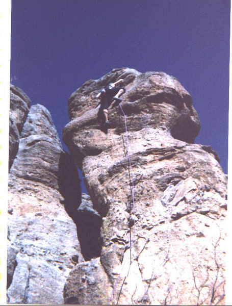 The climber is Darrin Stein puling just over the bulge to the anchors.