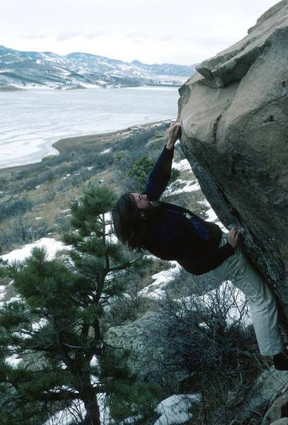 Me on the Mental Block Standard (in 1973 and climbing in PA's; anyone remember them? )