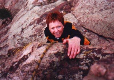 Nancy Hinsey (now Berg) on bonus overhang/lunge finish to the R on P2.