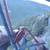 Rappelling off a cool roof at table rock