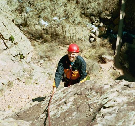 """Bruce Theriault popping over the top of the """"optional"""" 4th pitch on Easter Sunday, March 31, 2002.  Photo by Kevin Currigan."""