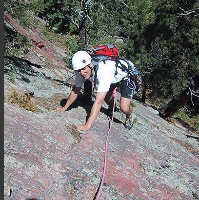 Warren Teissier on the Fourth Flatironette.  Why is he smiling?
