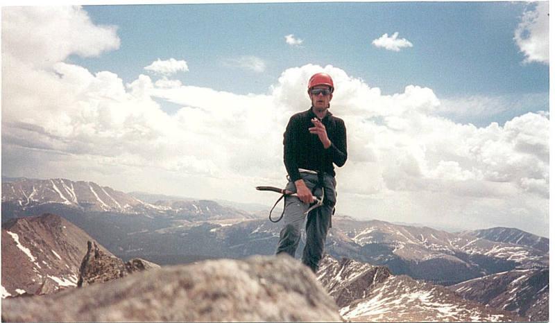 The Marlboro Man on the summit.