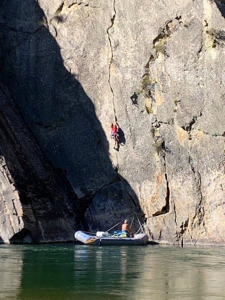 August on Cliffside Crack