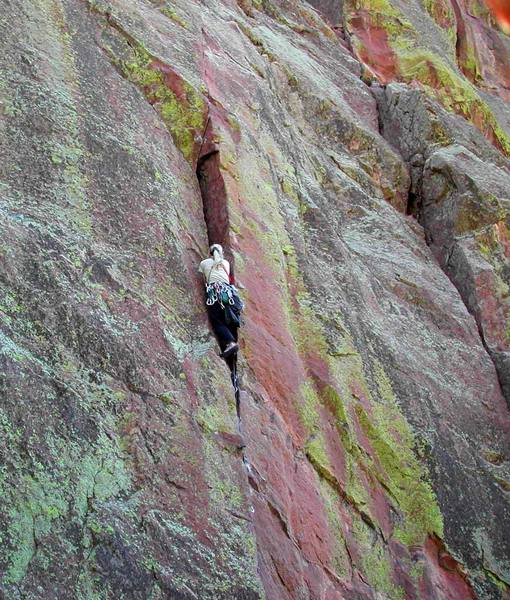 Working through the crux of pitch 1.  (1 of 3)