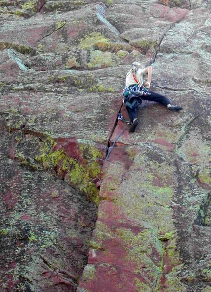 Working through the crux of pitch 1.  (3 of 3)