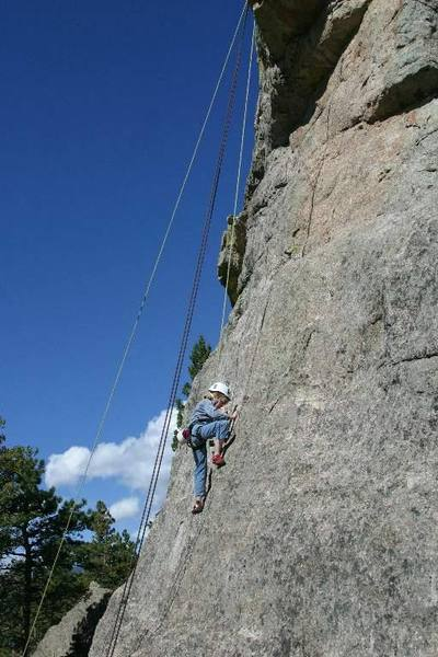 Brittany works out the face moves on her first 5.7 at age 8.