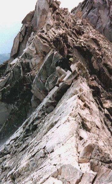 On the Knife Edge Ridge looking back towards K2.