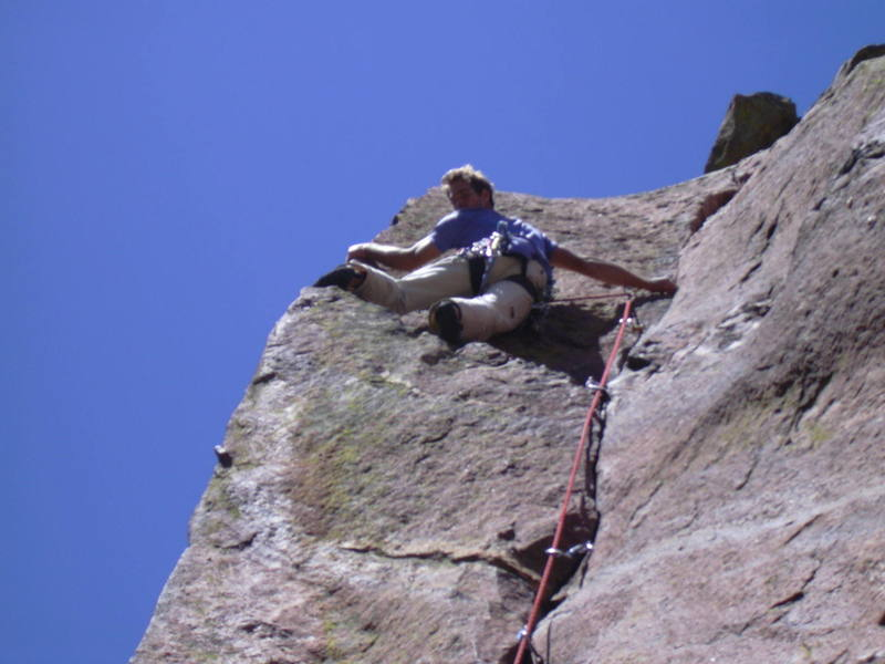 Working the arete.