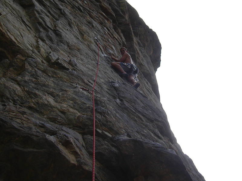 Just before the crux....