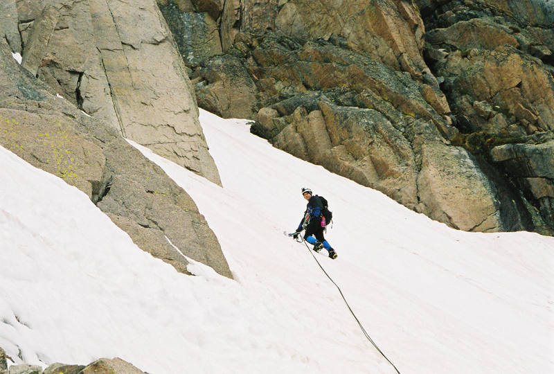 Brian entering the Couloir.  What a stud!