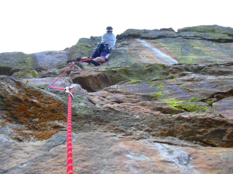 Near the crux of the 5th pitch.