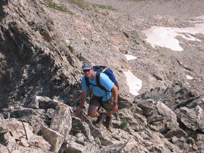 Clint along the ridge.