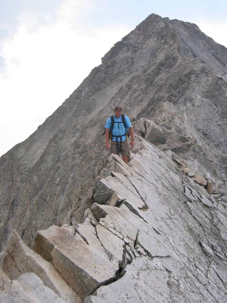 Clint on the infamous Knife Edge.