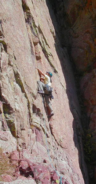 Ron Olsen starting up the beautiful and sustained third pitch.