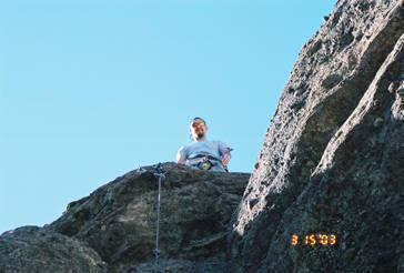 "Antonio on the ""summit"" of Noodlers Nitemare."