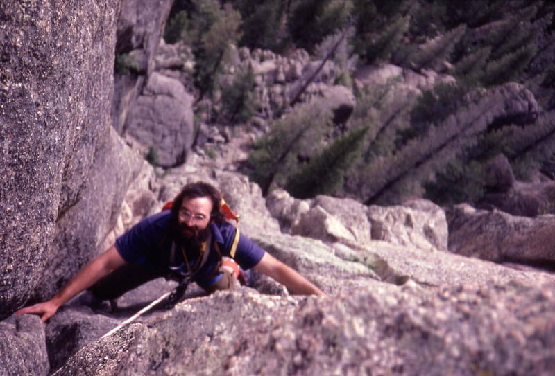 The 5.6 finish on the last pitch of Organ Pipes.