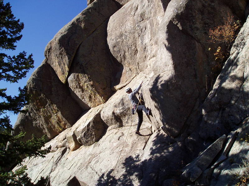 The perplexing crux. Looks easy, doesn't it? This didn't work.