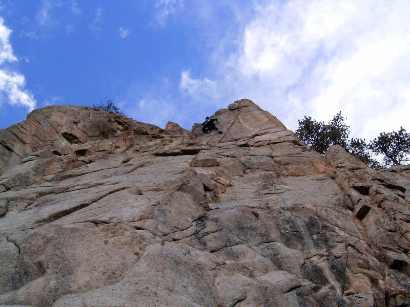 Dave leading this cool route.