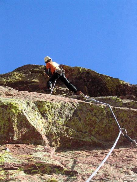 Ivan tackles the final roof, wondering what it would be rated in the Gunks.