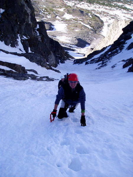 Looking down Skywalker on 6.04.04 from <br> just below the steep Leia finish.