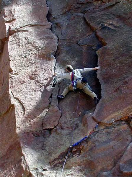 If you have the wingspan, this is probably an easier solution to the crux on pitch one.