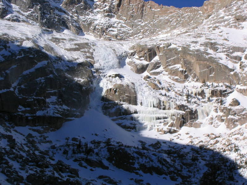 Better photo of ice conditions on west side of Black Lake, RMNP, Dec 4, 2004