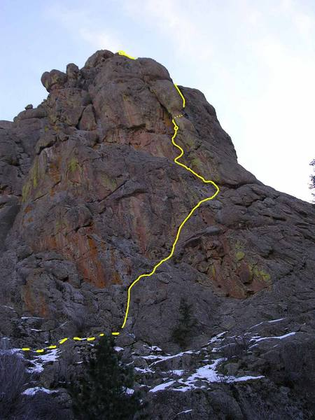 Topo from E side of N face, P1 +.