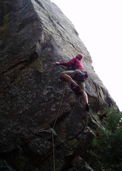 After the insecure move around the arete.