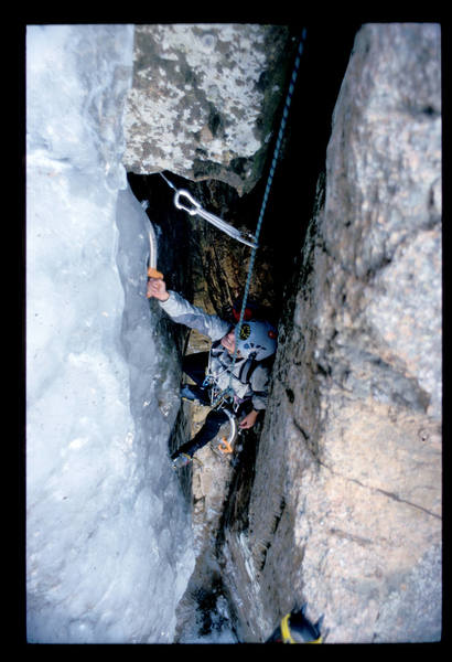 The crux of the second pitch.