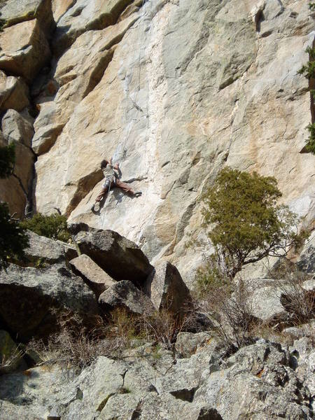 Adrian on the first crux.