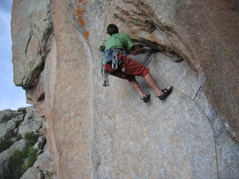 Steve at the first crux.